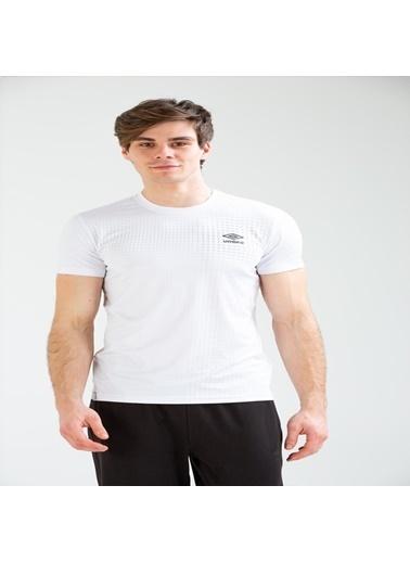Umbro Broom Basic Tf-0041 Indıgo Erkek Tişört Beyaz